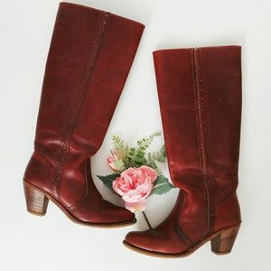 Vintage Braided Leather Dexter Riding Boots